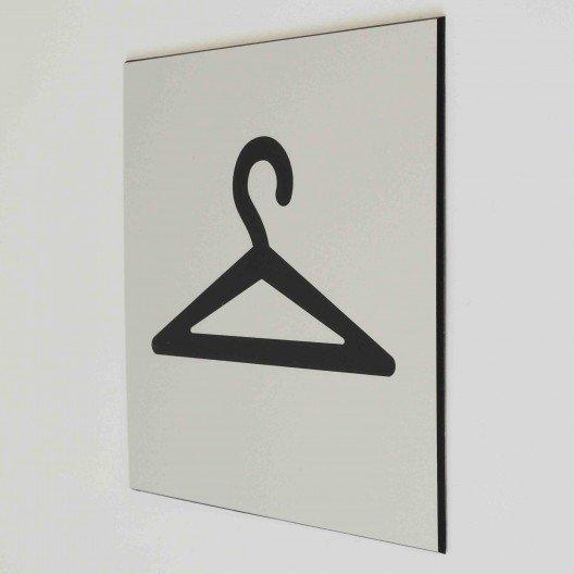 plaque de porte vestiaire pictogramme 4mepro. Black Bedroom Furniture Sets. Home Design Ideas