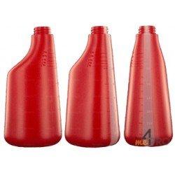 Bouteille polyéthylène 600 ml rouge
