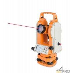 Théodolite électronique avec compensateur à 2 axes et pointeur laser FET 402K-L