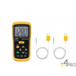 Thermomètre de type K à 2 canaux FT 1300-2