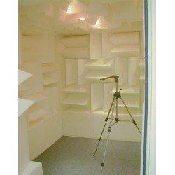 Dièdre acoustique en mousse de mélamine 24 x 48 cm blanc - Lot de 300 unités