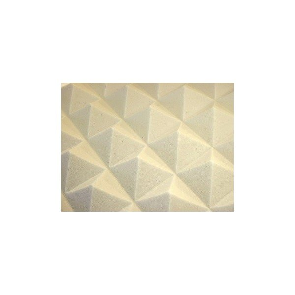 mousse acoustique pyramide 60 95 mm gris brut lot de 18 4mepro. Black Bedroom Furniture Sets. Home Design Ideas