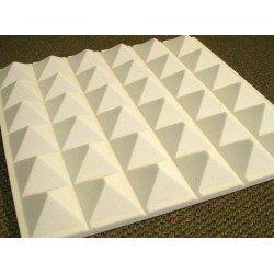 Mousse acoustique pyramide 60/95 mm gris brut - Lot de 18