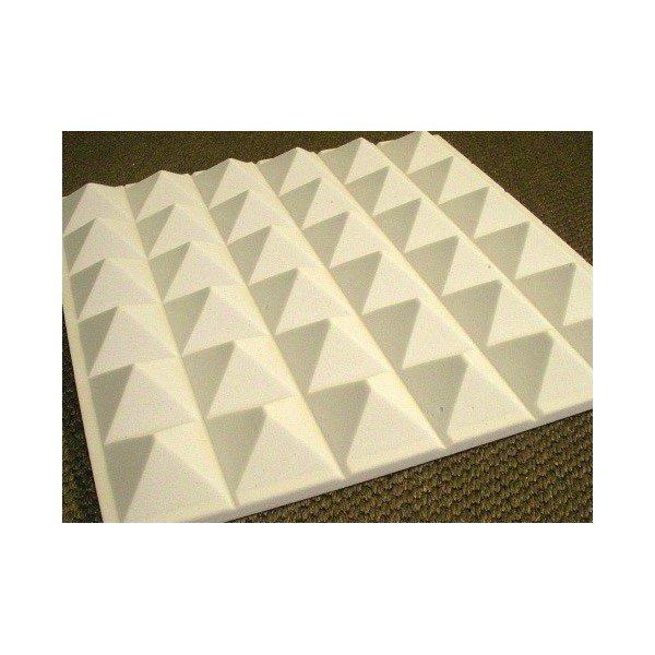 mousse acoustique pyramide 60 95 mm gris brut. Black Bedroom Furniture Sets. Home Design Ideas