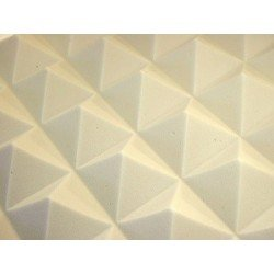 Mousse acoustique pyramide 60/95 mm blanc brut - Superficie : 6,48 m²