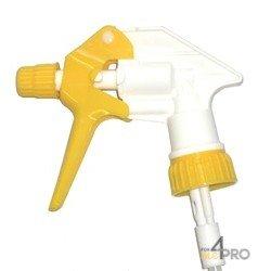 Tête de vaporisateur Tex-Spray Blanc / Jaune avec tube de 25 cm