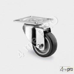 Roulette de collectivités charge max 70kg - platine carrée