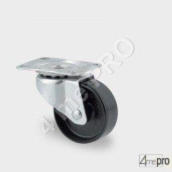 Roulette de quincaillerie charge max 40kg - platine rectangulaire