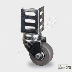 Roulette de quincaillerie charge max 35kg - platine d'angle