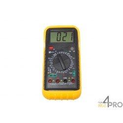 Multimètre : voltmètre, ampèremètre, ohmmètre, thermomètre