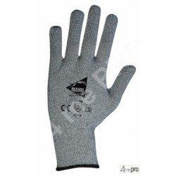Gants anti-coupure avec picots PVC noirs - support composite gris - norme EN 388 354x