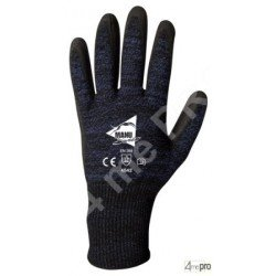 Gants anti-coupure enduction polyuréthane anthracite - support ultra souple - norme EN 388 4542