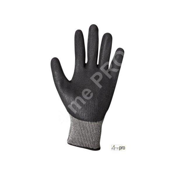 Gants anti coupure latex noir sur support composite gris - Gant latex noir ...