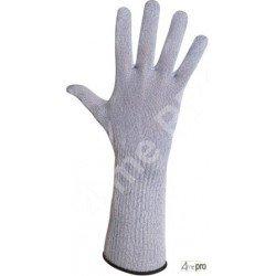 Gants avec manchette anti-coupure 15cm pour contact alimentaire - normes EN 388 454x / EN 407 x1xxxx