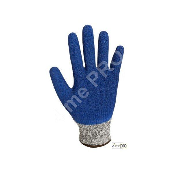 gants anti coupure enduction latex bleu sur support hppe gris. Black Bedroom Furniture Sets. Home Design Ideas