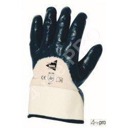 Gants manutention lourde - nitrile lourd imperméable dos 3/4 - norme EN 388 4211