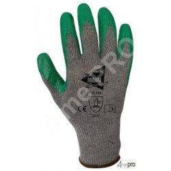 Gants manutention lourde - nitrile vert sur support polyester recyclé - norme EN 388 2243