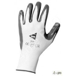 Gants manutention - nitrile gris sur support nylon blanc - norme EN 388 3121