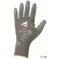 Gants manutention fine - polyuréthane gris sur support nylon gris - norme EN 388 4131