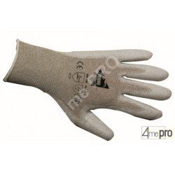 Gants manutention fine - polyuréthane antistatique sur support nylon - normes EN 388 4131 / EN 1149-1