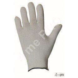 Gants manutention fine - polyamide blanc sans enduction