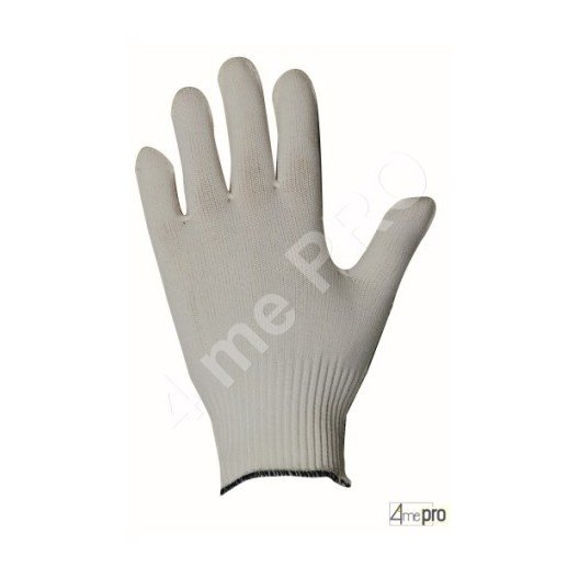 Gants manutention fine - polyamide blanc sans enduction
