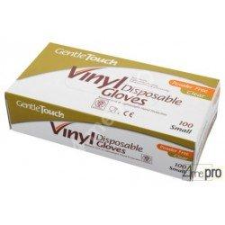 Boite de 100 gants jetables en vinyle non poudré - norme EN 455