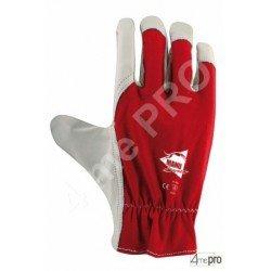 Gants de protection cuir de chèvre et dos coton avec élastique de serrage - norme EN 388 2122