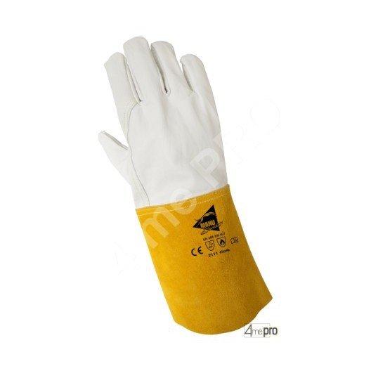 Gants soudeur résistants chaleur - cuir agneau - normes EN 388 2111 / EN 407 41xx4x