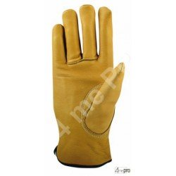 Gants résistants froid - cuir bovin hydrofuge - normes EN 388 3143 / EN 511 1xx
