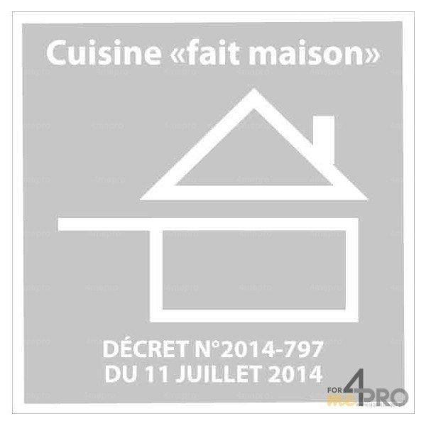 Panneau de restauration cuisine fait maison avec d cret for Cuisine fait maison