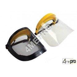 Ecran facial de protection treillis d'acier ou polycarbonate - norme EN1731S/EN1661S