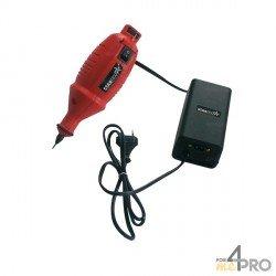 Stylo graveur à micro percussion rouge