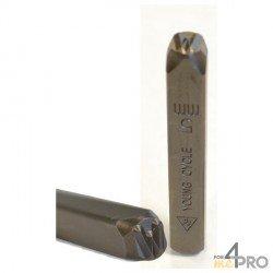 Caractère à l'unité à frapper endroit 6 mm