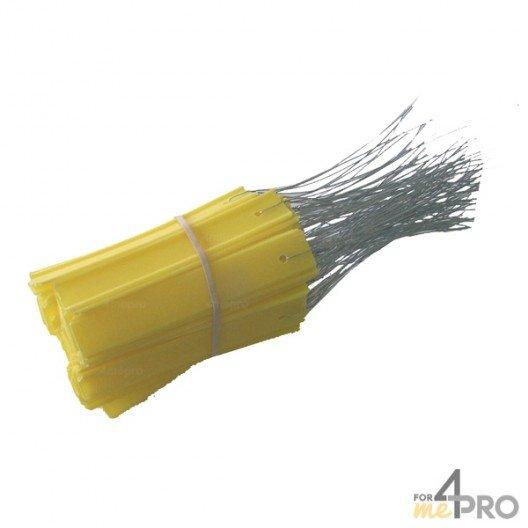 Etiquettes PVC jaunes indéchirables 100 x 18 mm