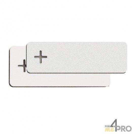 Etiquettes PVC blanches 100 x 18 x 1,4 mm