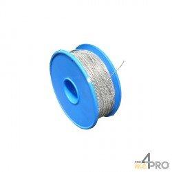 Bobine de fil perlé galvanisé 1 mm