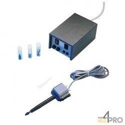Pointe de rechange carbure pour graveur à micro-percussion bleu et noir