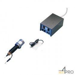 Electrodes 1,3mm pour graveur à arc électrique bleu et noir