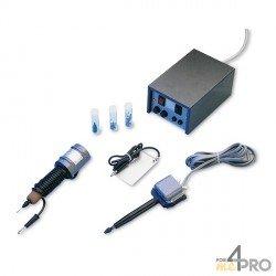 Ensemble graveur à micro-percussion + graveur à arc électrique