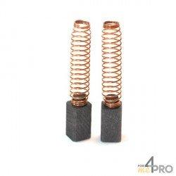 Balai charbon pour perceuses et marteaux BLACK&DECKER 6,3 x 6,3 x 11 mm
