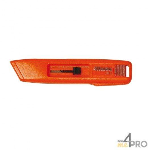 Couteau de sécurité trapèze autorétractable lexan très résistant