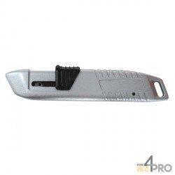 Couteau de sécurité rétractable métallique