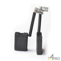 Balai charbon pour meuleuses BLACK & DECKER/DEWALT/SPIT 6,3 x 16 x 23 mm