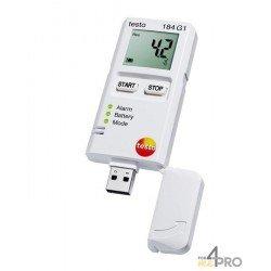Enregistreur de données de température, humidité et chocs Testo 184 G1
