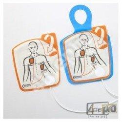 Electrodes de défibrillation adulte pour défibrillateur Powerheart G5