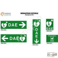 Panneaux de signalisation défibrillateur PVC