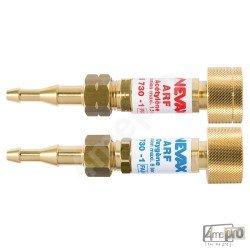 Anti-retour de flamme ARF pour détendeur et tuyau 6,3 et 10 Oxy/AD serrage manuel