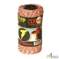 Fil Lacmé Easytop 3x16 pour clôture électrique