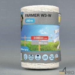 Fil blanc Farmer pour les clôtures courtes et moyennes